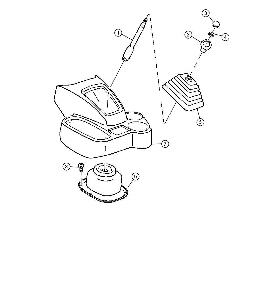 2012 Dodge Ram 5500 Boot. Gear shift lever. Upper. [6