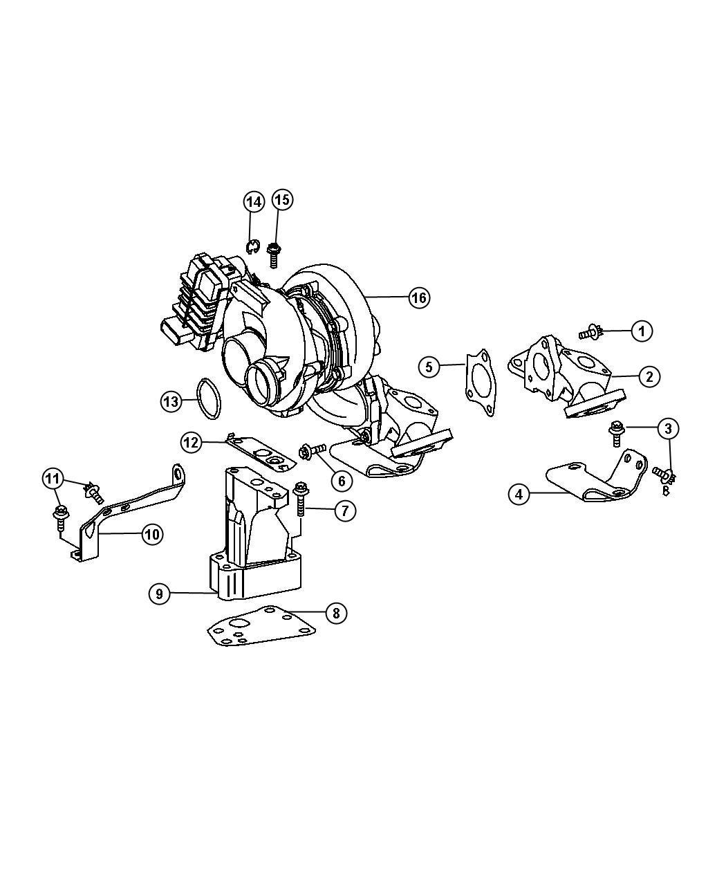 Dodge Sprinter Screw Mounting Fuel Rail Oil Pump