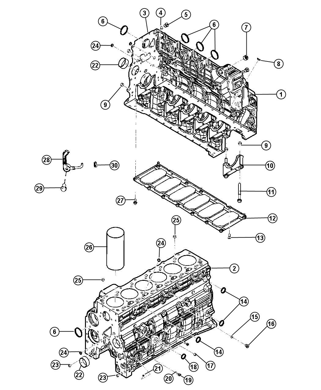 Dodge Ram Bedplate Plate Cylinder Block