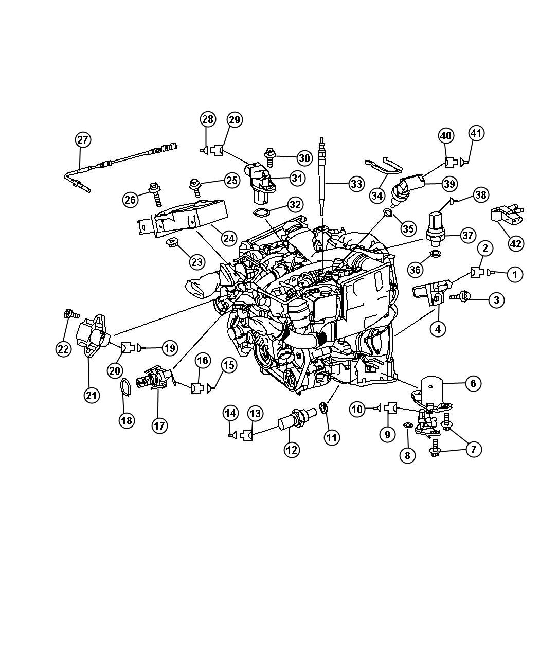 Dodge Sprinter Sensor Oil Level Sensors Engine