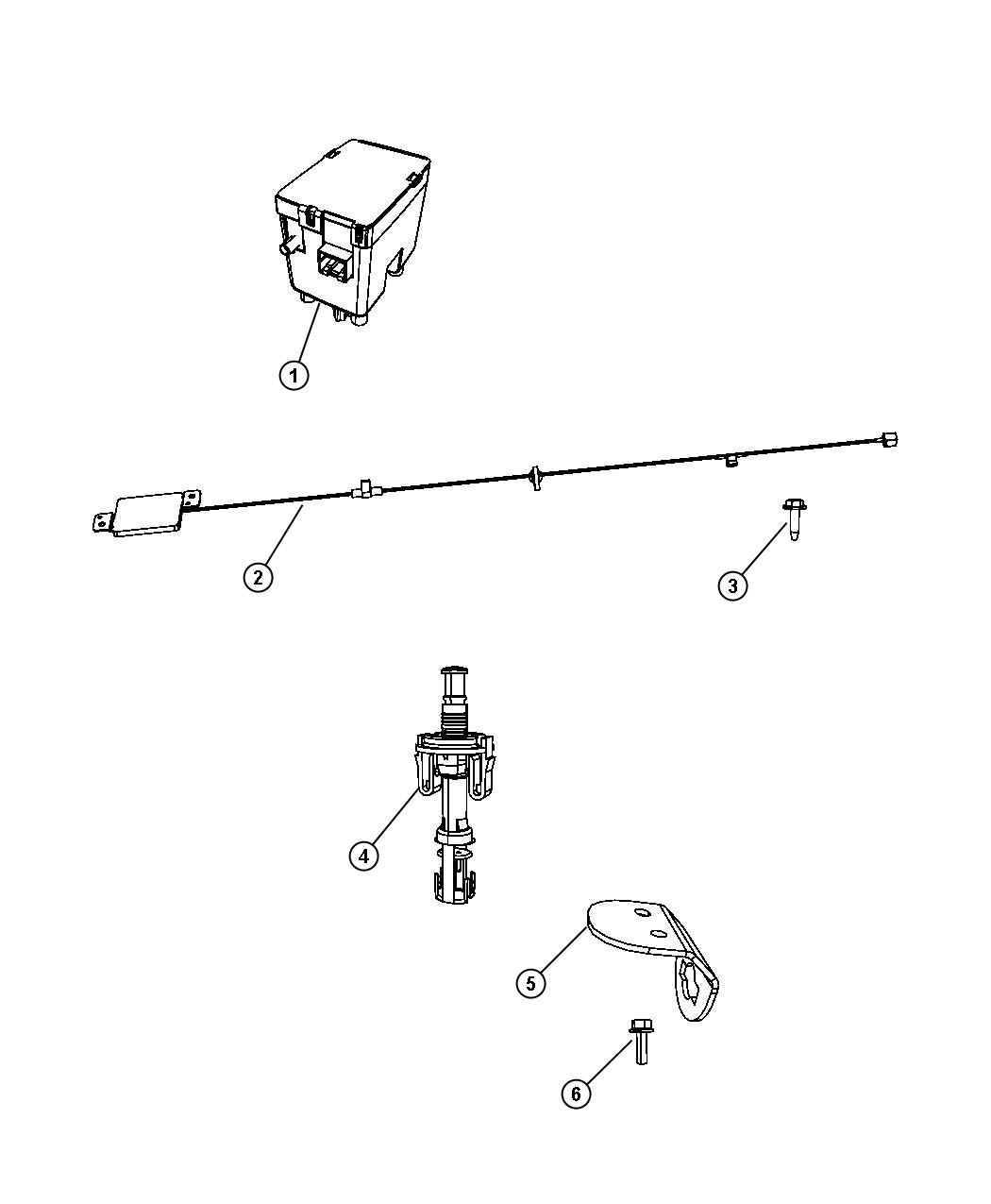 Jeep Grand Cherokee Antenna Keyless Entry Remote Start