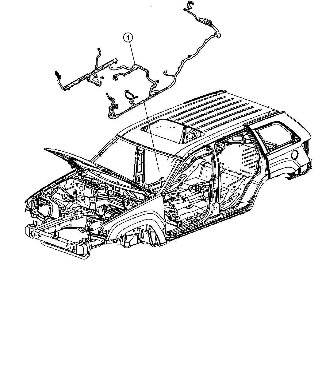 Jeep Grand Cherokee Wiring. Body. Rear, way, window