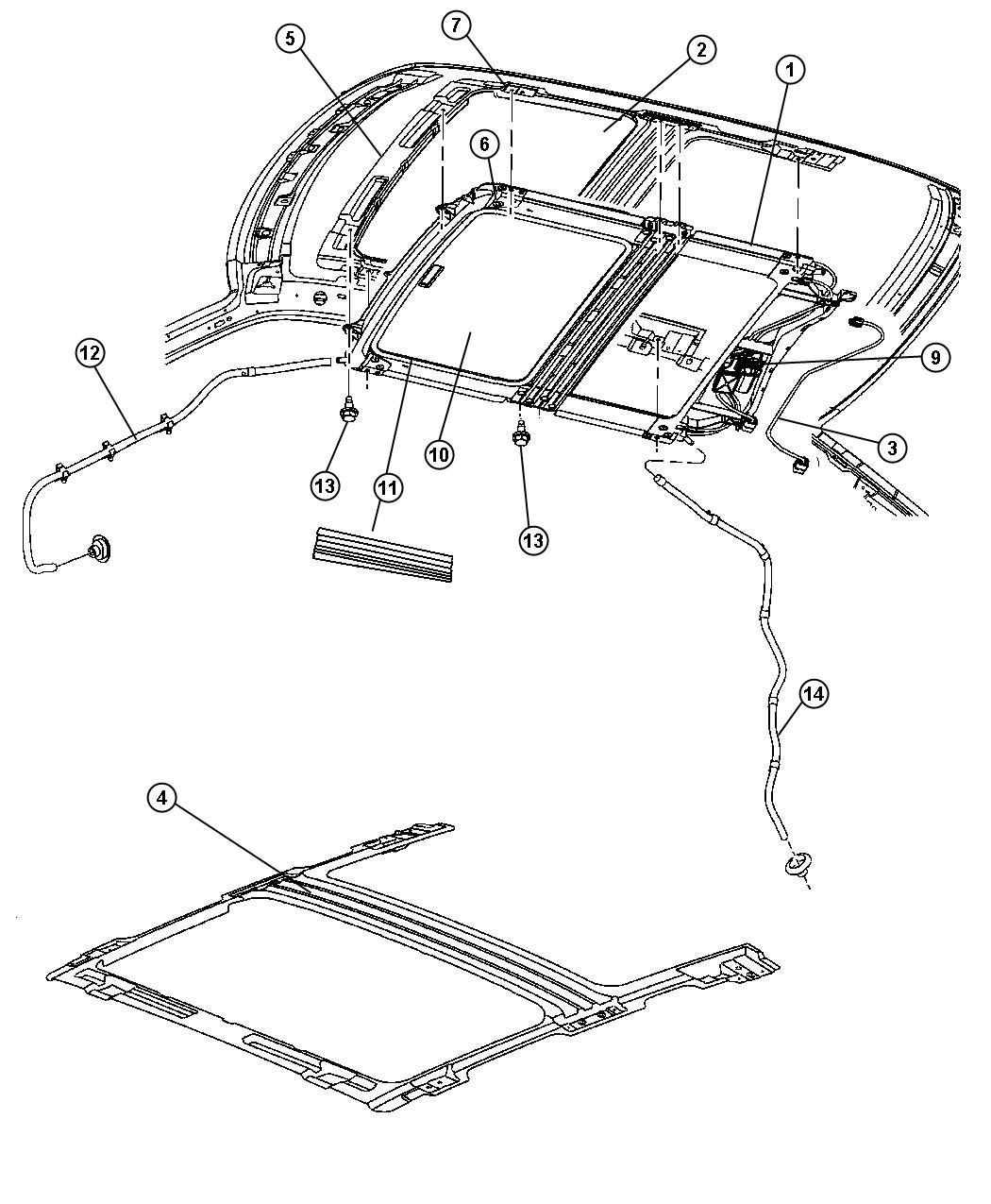 Jeep Grand Cherokee Frame Module Sunroof Includes
