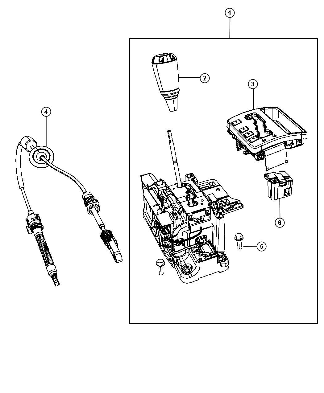 Jeep Grand Cherokee Used for: HOUSING AND LEVER. Shifter