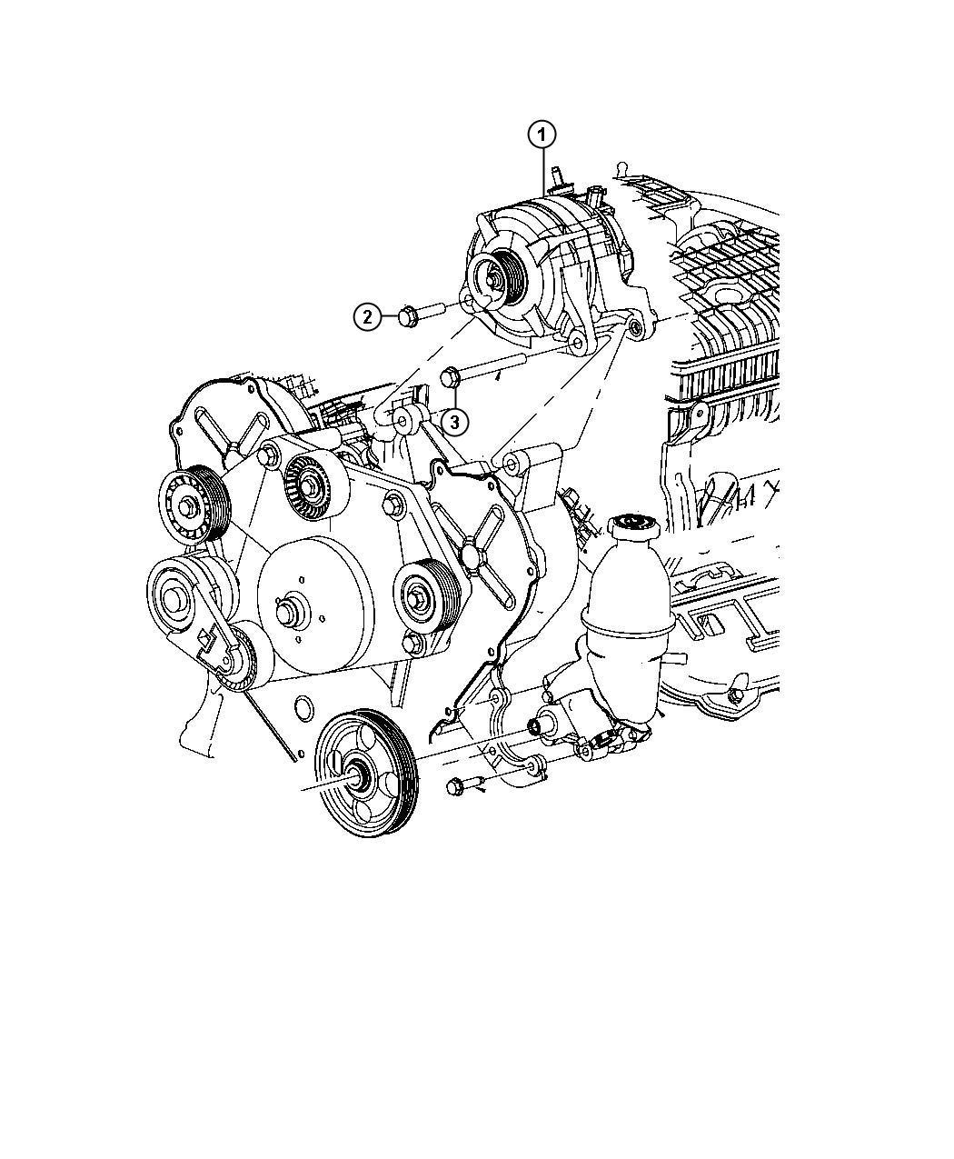 2010 Dodge NITRO Generator. Engine. [160 amp alternator