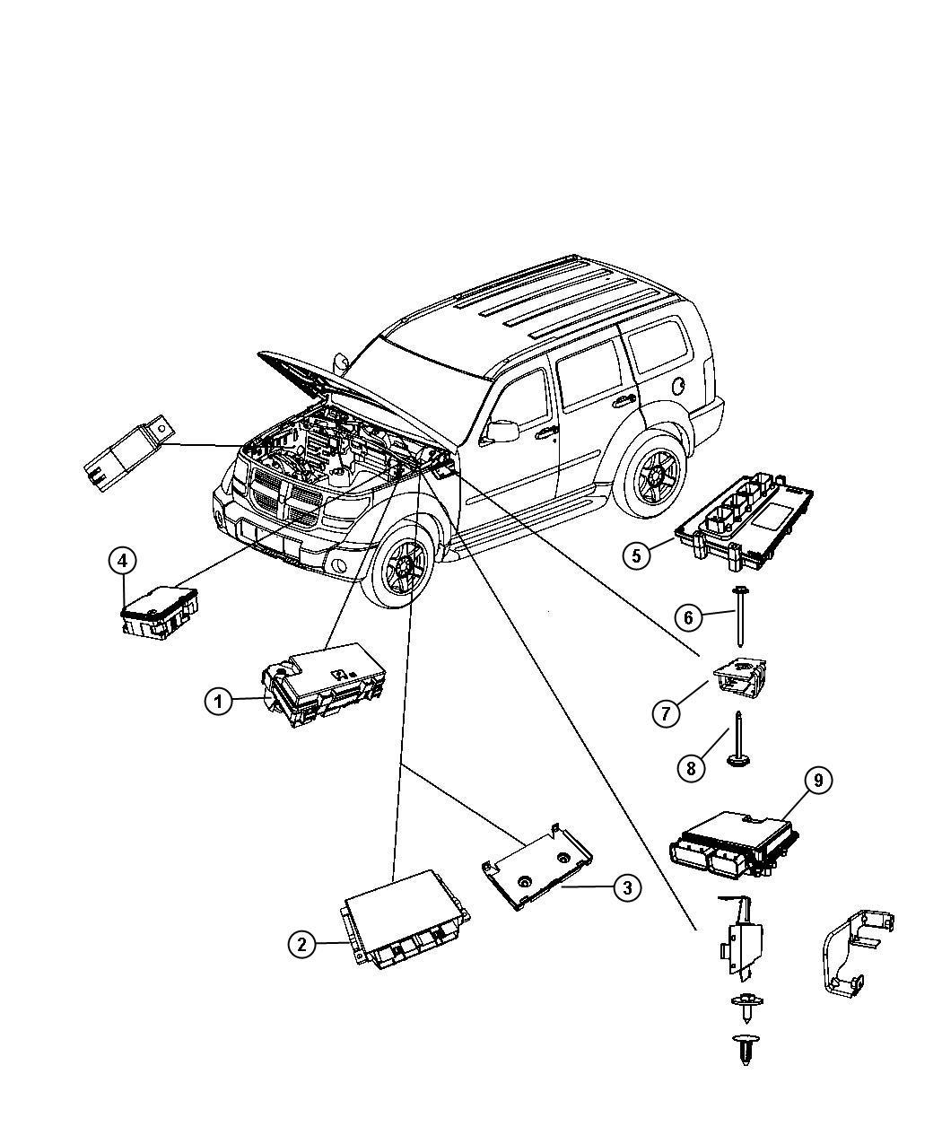 Dodge NITRO Module. Engine controller. Particulate, dpf