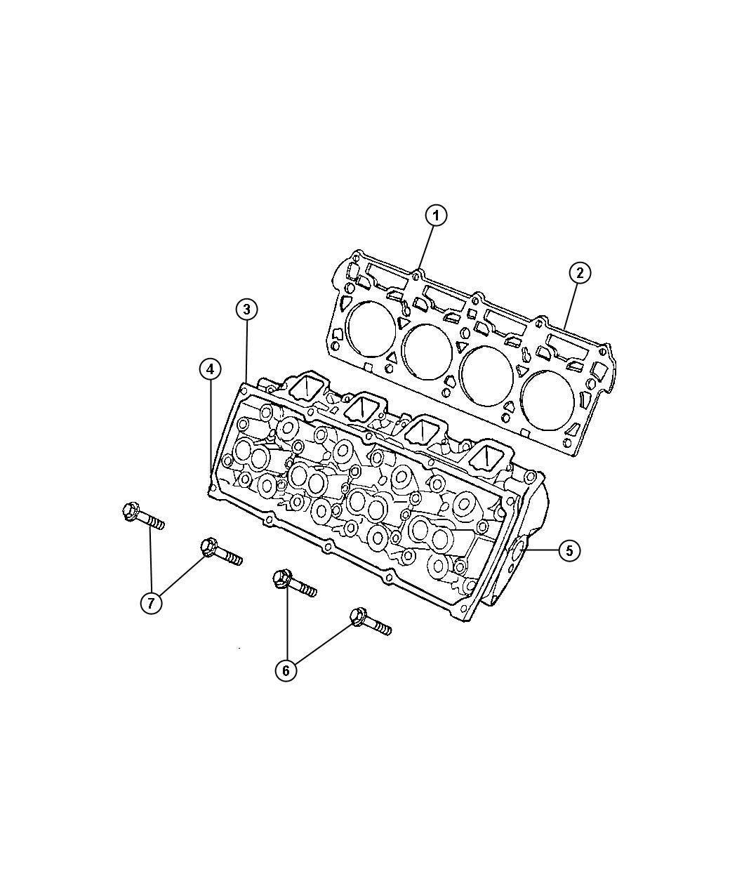 Jeep Commander Head, head assembly. Cylinder, engine