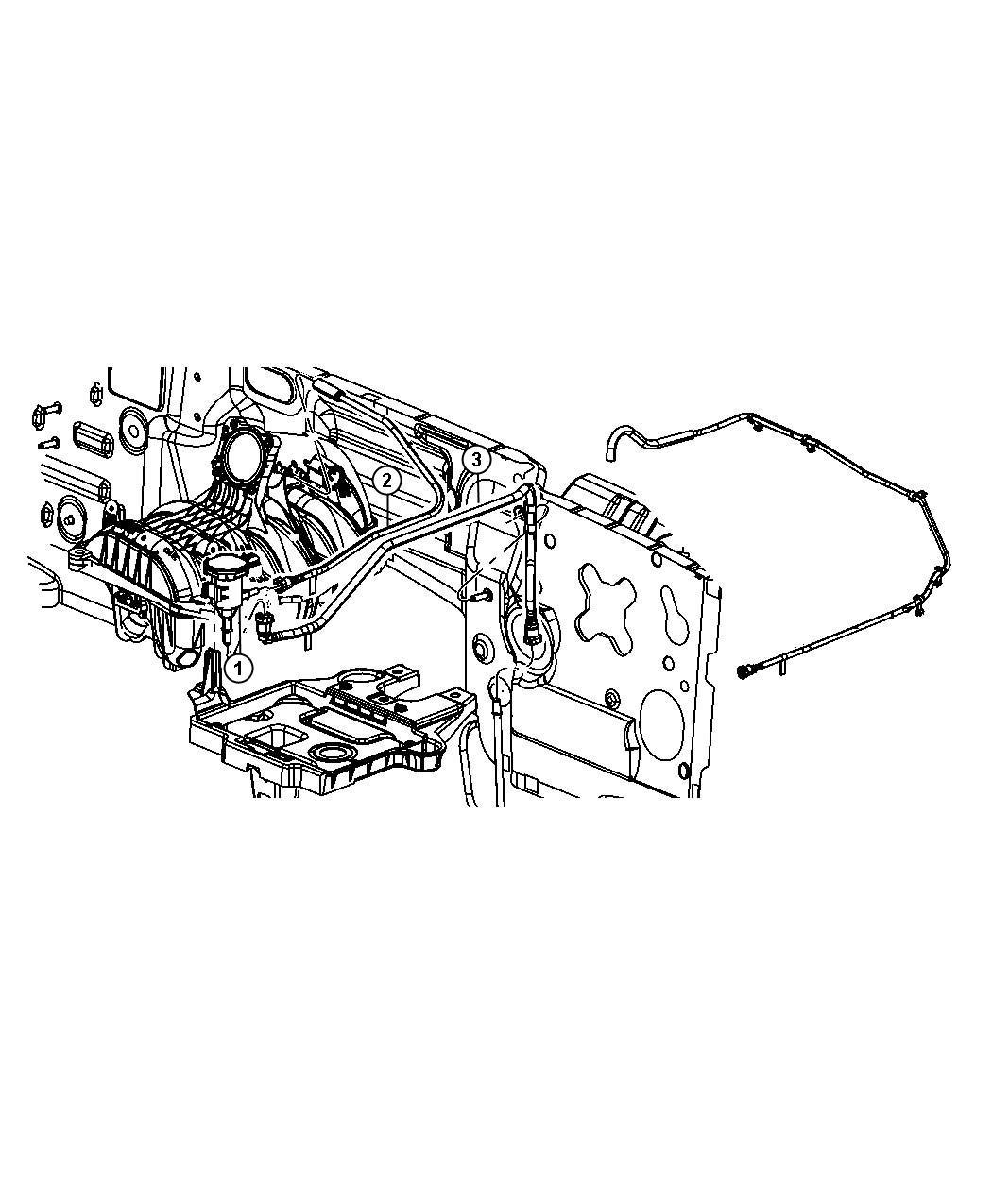 2010 Jeep Liberty Tube. Fuel vapor, throttle body purge