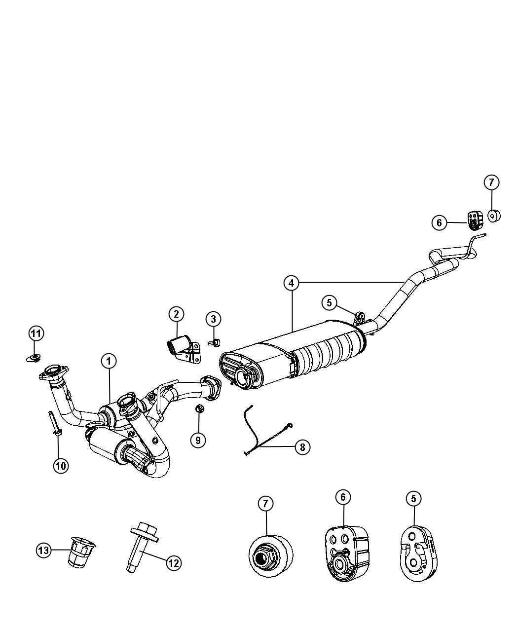 Jeep Grand Cherokee Used For Pipe And Converter Exhaust