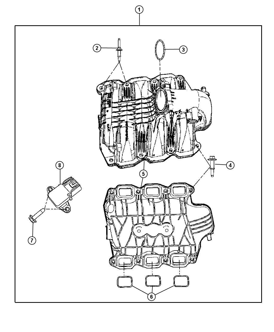 Dodge NITRO Manifold, manifold kit. Engine intake, intake
