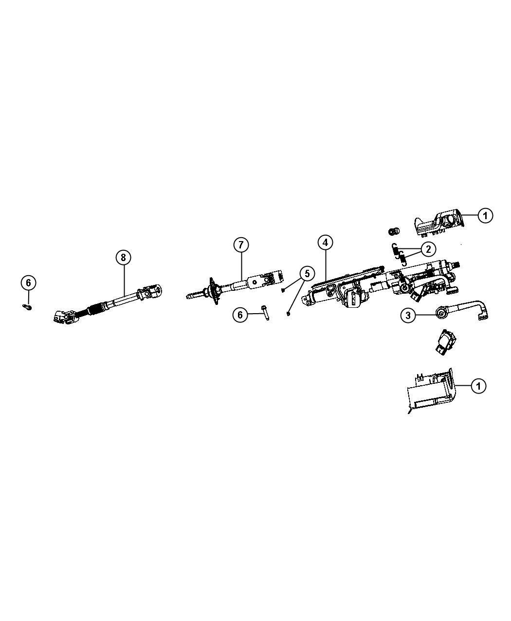 Jeep Wrangler Shaft. Intermediate, steering column