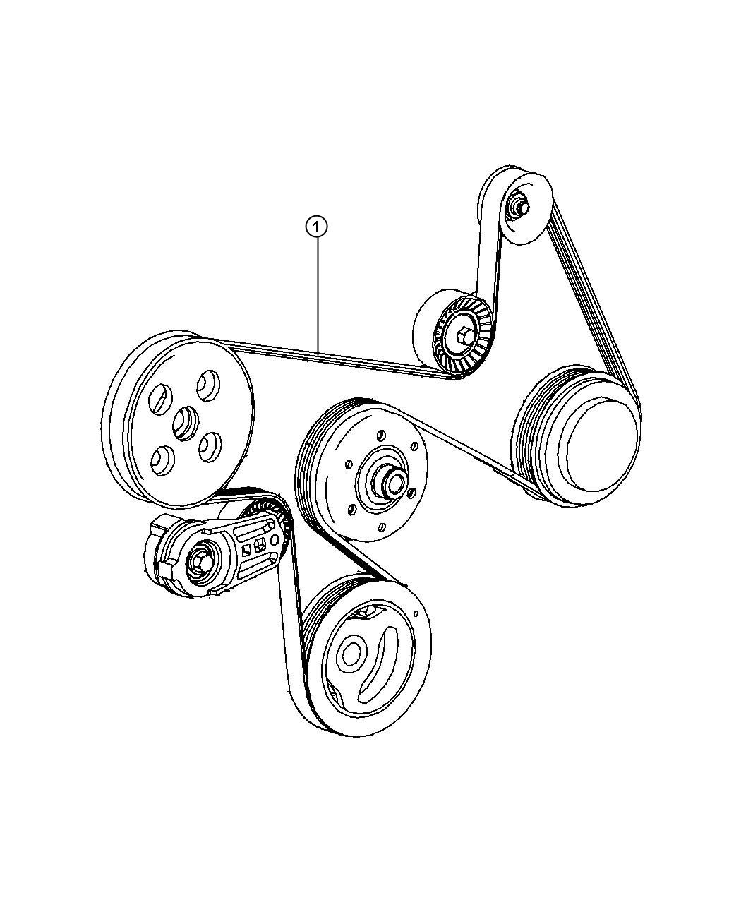 2010 Jeep Wrangler Belt. A/c compressor, accessory drive