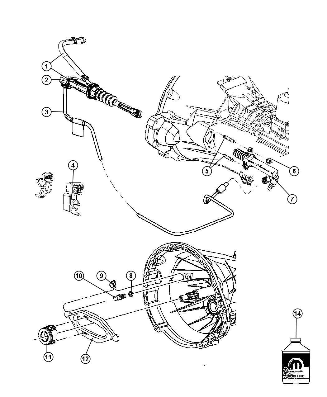 2010 Jeep Wrangler Tube. Clutch hydraulic, hydraulic