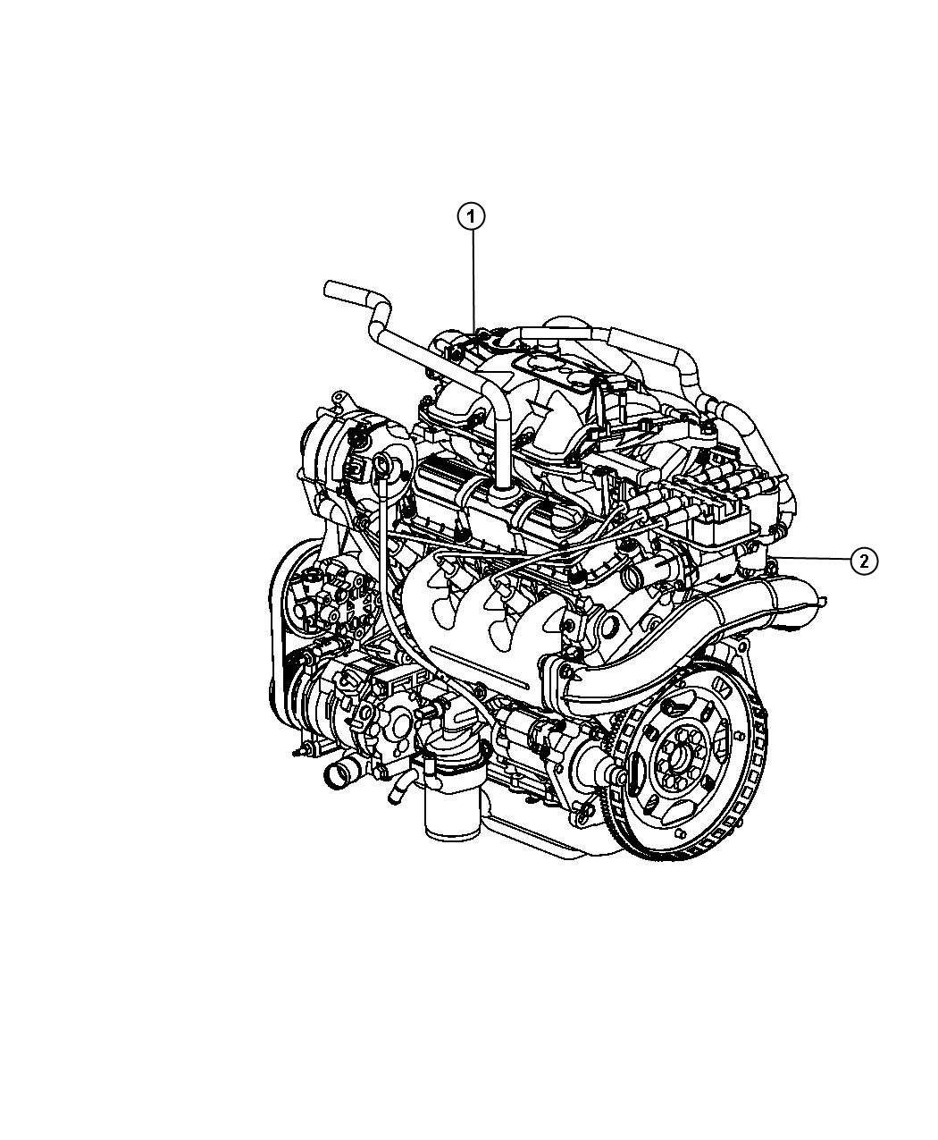 Jeep Wrangler Engine Long Block Remanufactured