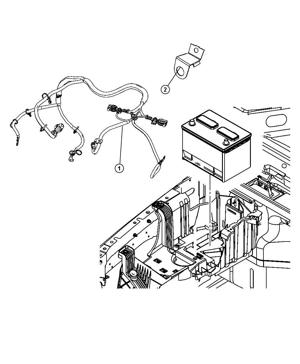 2002 Chrysler Sebring Bracket. Battery wiring, tube. Vent