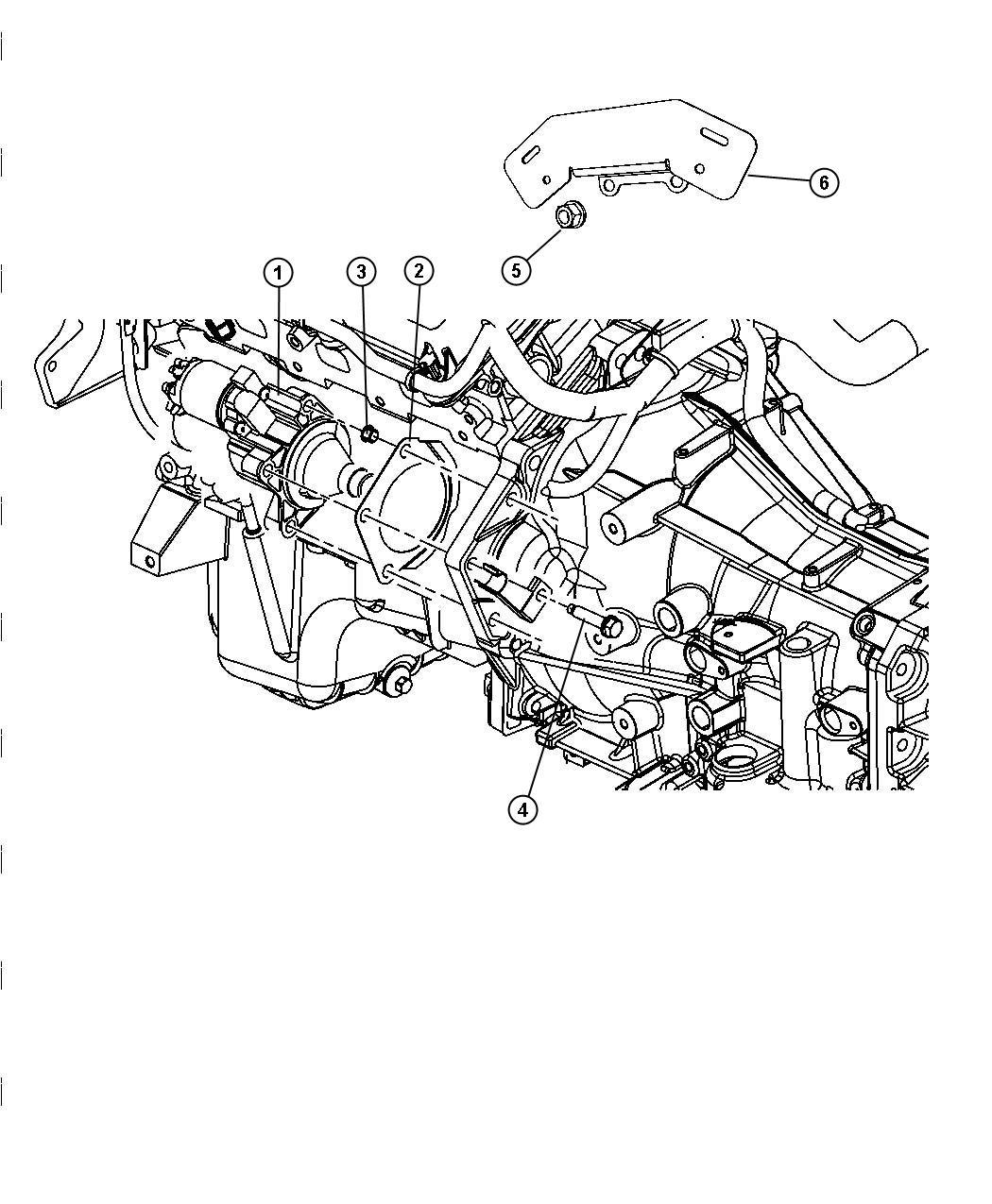 2010 Dodge Charger Starter. Engine. Remanufactured