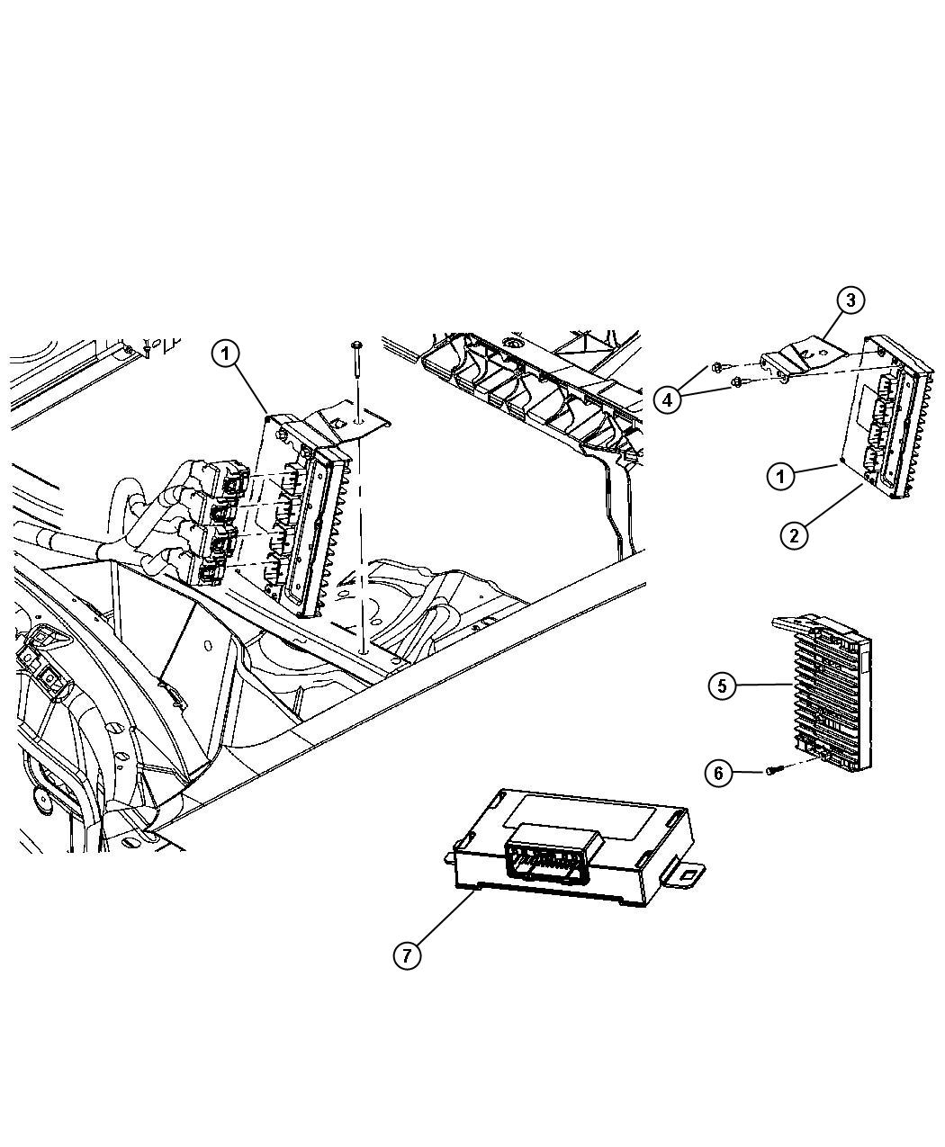 Dodge Charger Module. Powertrain control. Generic