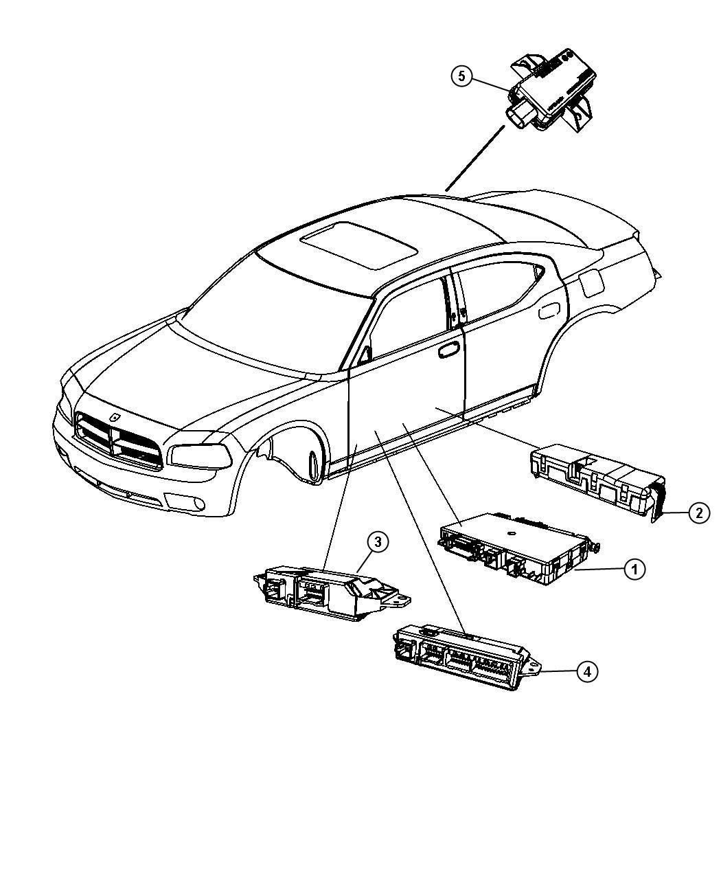 Dodge Charger Module Door Window Down Trim