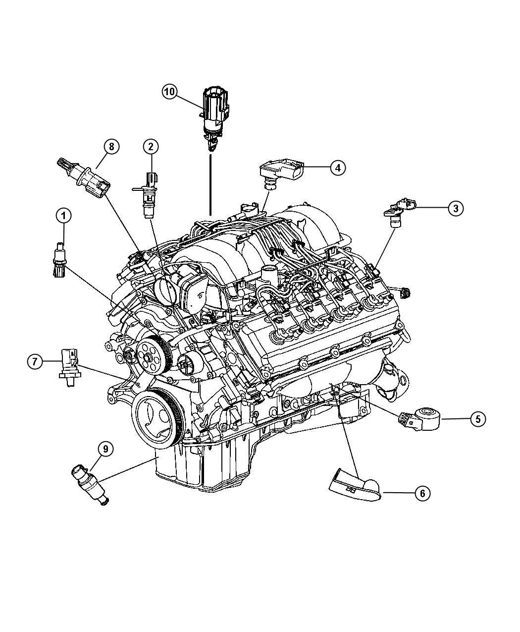 Dodge Charger Sensor. Crankshaft position. After 04/21/08