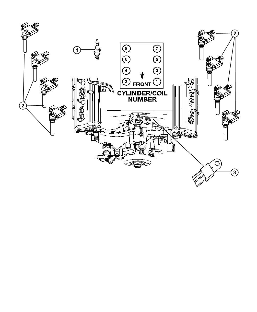 2010 Chrysler 300 Spark plug. Ignition, plugs, engine