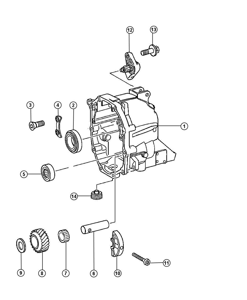 Jeep Wrangler Shaft. Reverse idler shaft. Case, related