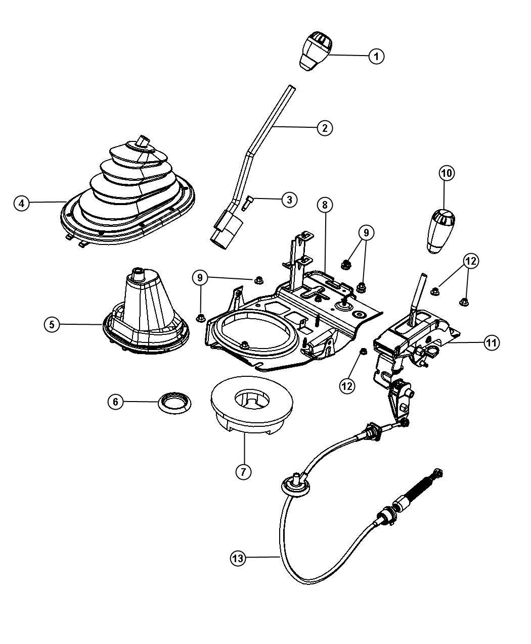 Jeep Wrangler Knob. Gearshift, manual gear shift. Control
