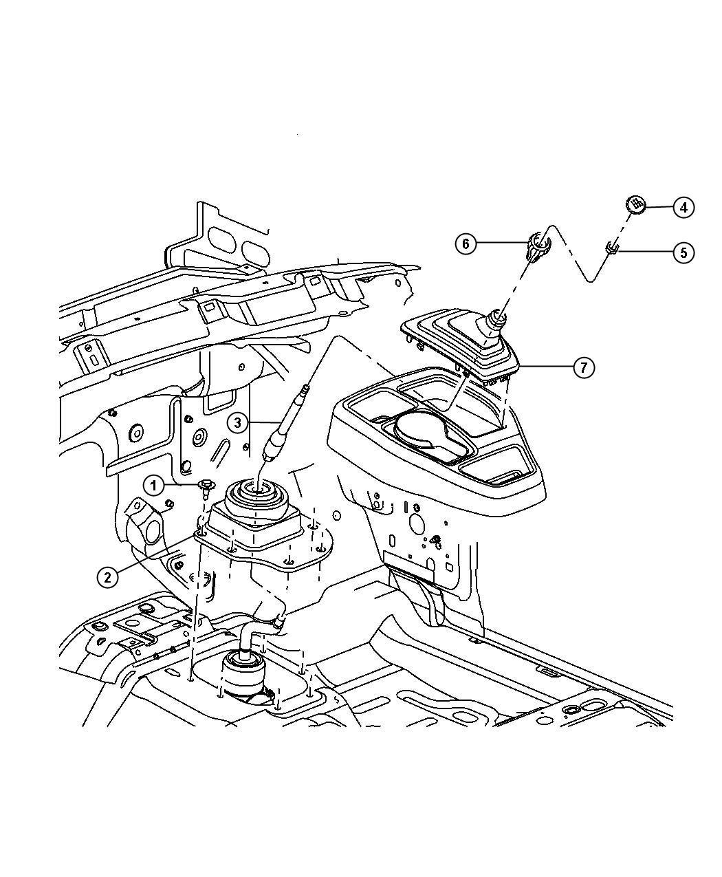 Dodge Dakota Insert. Transmission shift knob. Gearshift