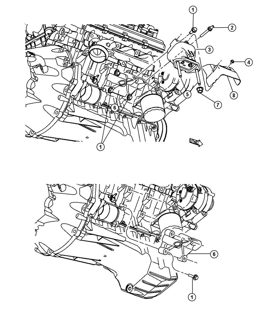2008 Dodge Charger Insulator. Engine mount. Left side