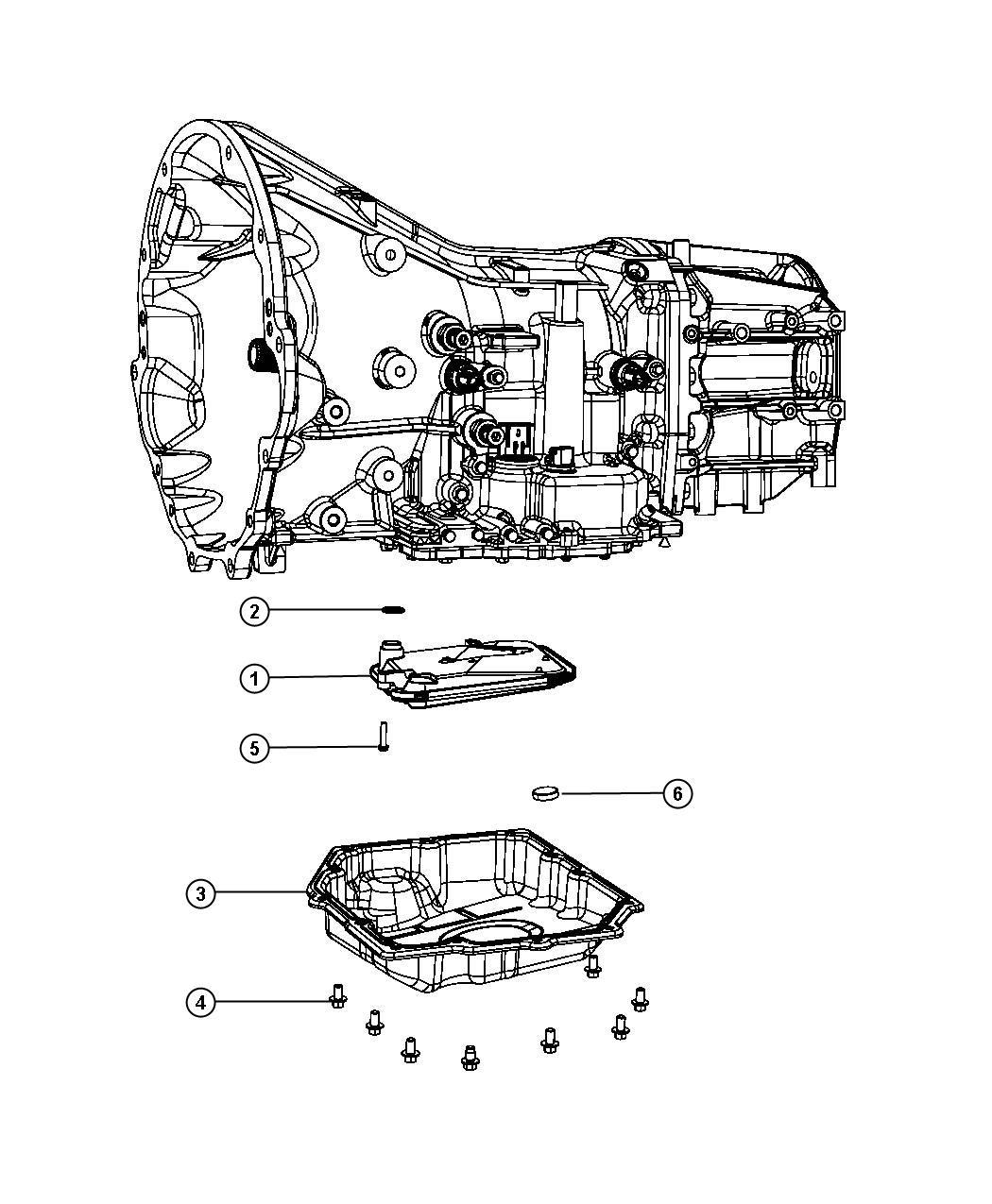 2010 Chrysler 300 Filter kit. Transmission oil. Use only