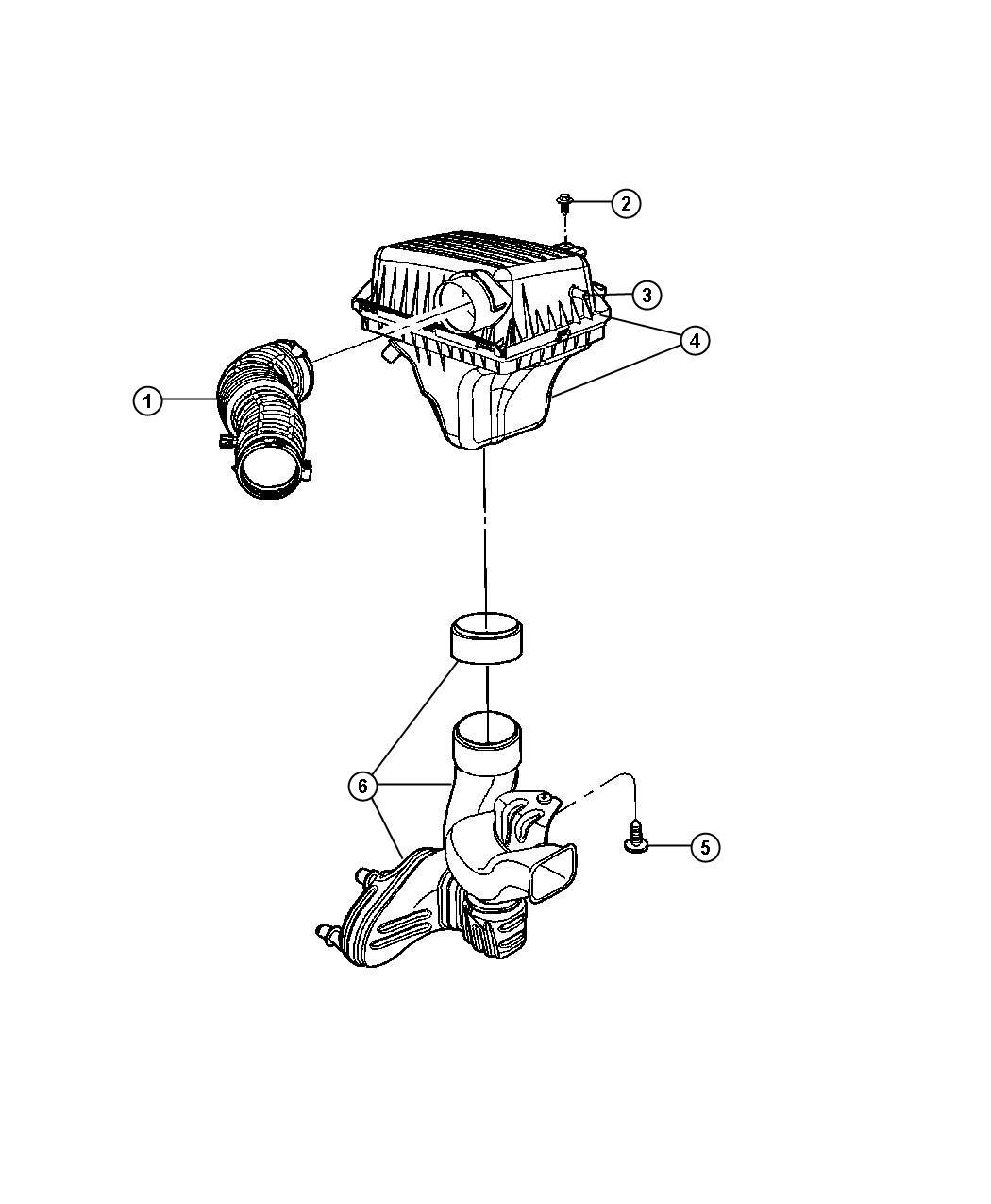 Dodge Charger Hose Make Up Air Cleaner Crankcase