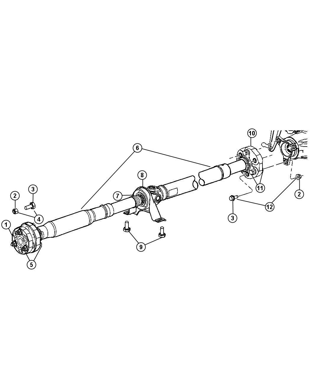 Dodge Challenger Bearing. Drive shaft. Dec, transmission
