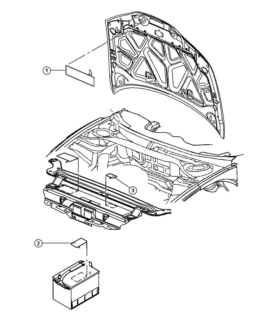 2010 Dodge Challenger Label. Veci label, vehicle emission