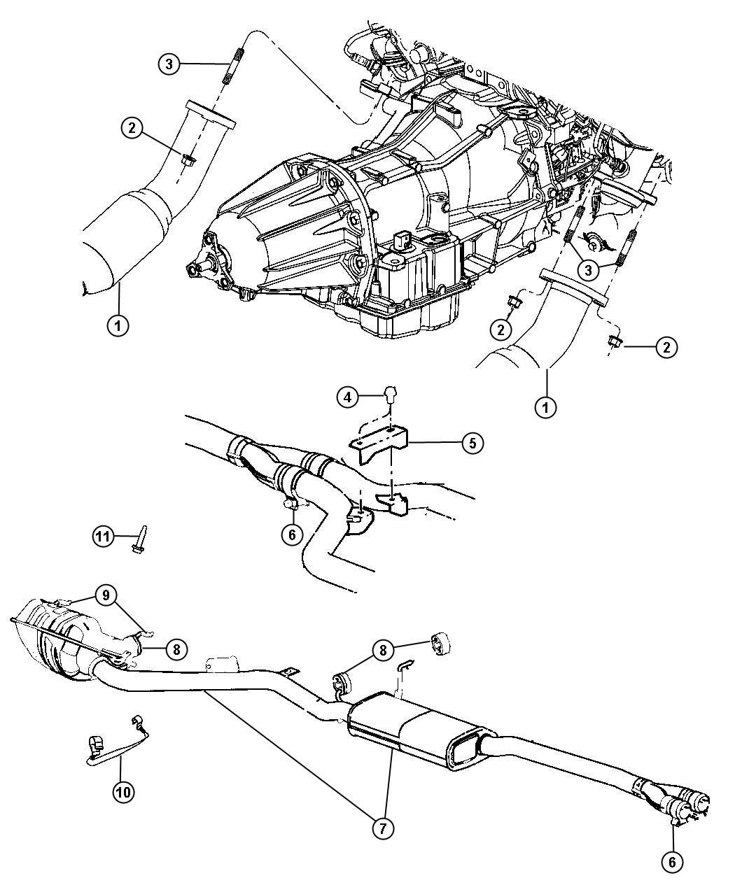 Chrysler 300 Muffler And Resonator Exhaust Ego 3 5l C 48 Body Chrysler 300