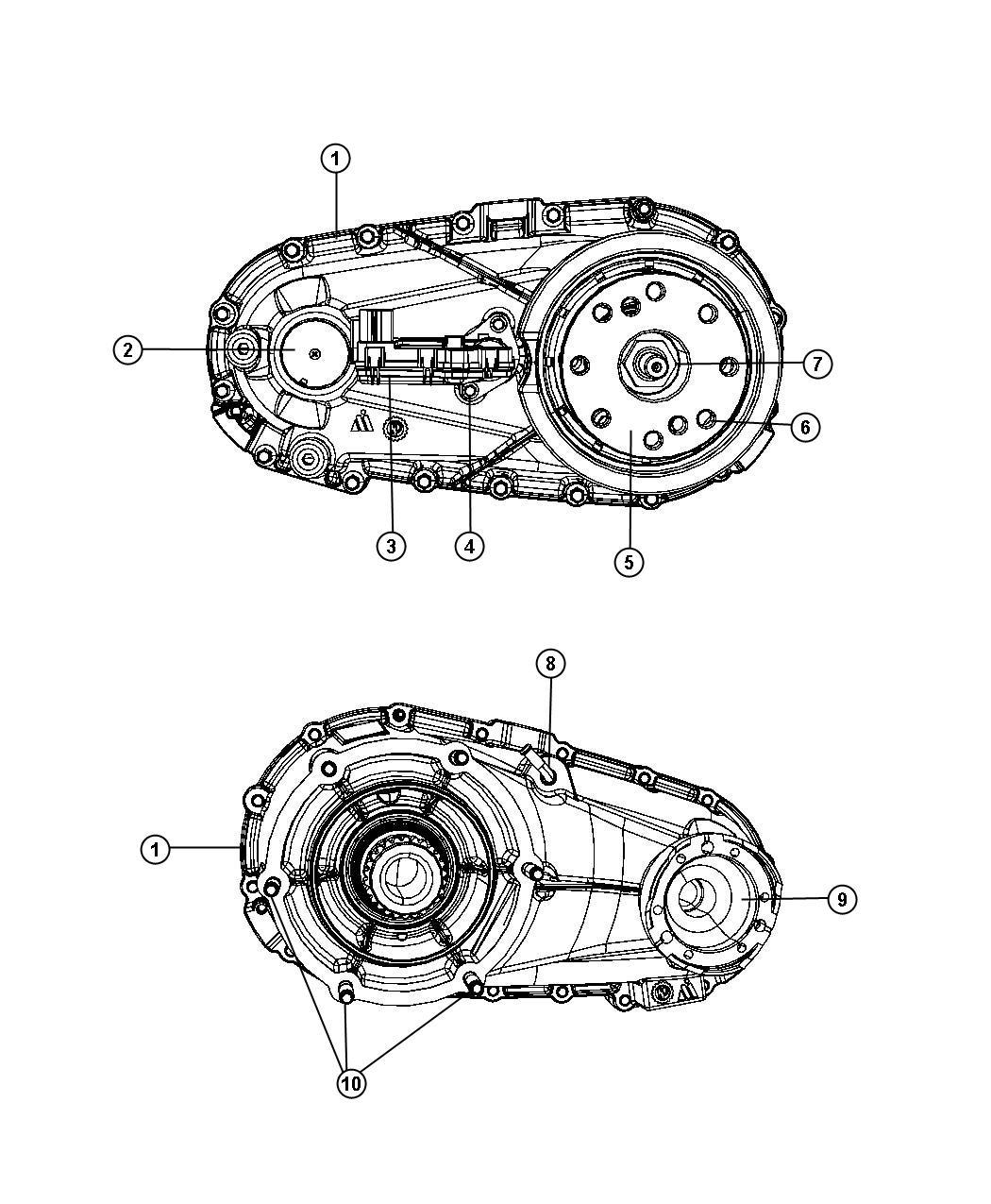 Dodge NITRO Transfer case. Nvg143. [eno] [5-speed auto