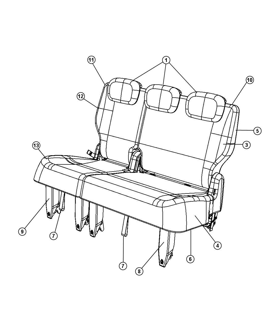 Chrysler Town Amp Country Frame Rear Seat Cushion