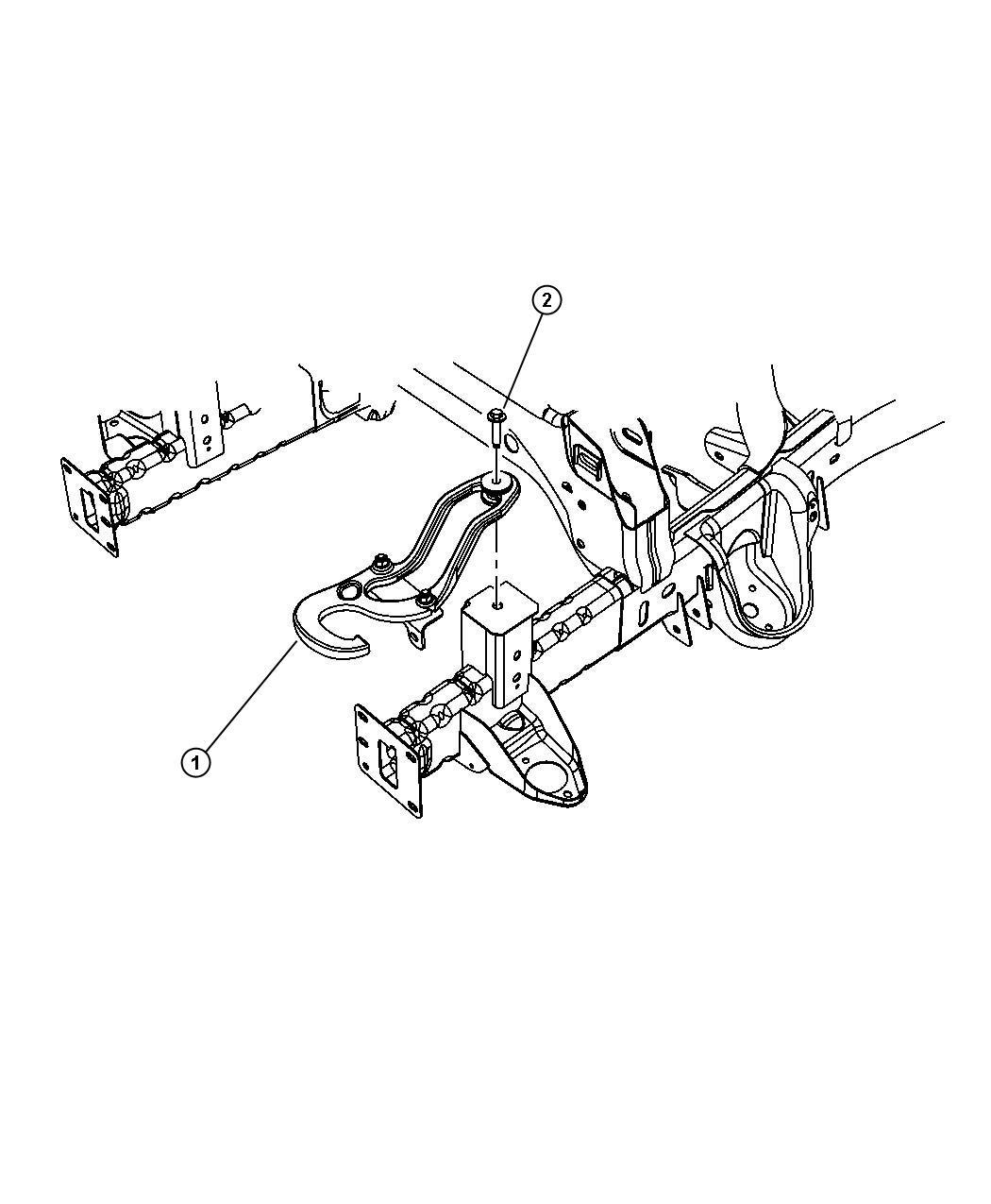 2012 Dodge Ram 1500 Hook. Tow. Left. [tow hooks], [add tow