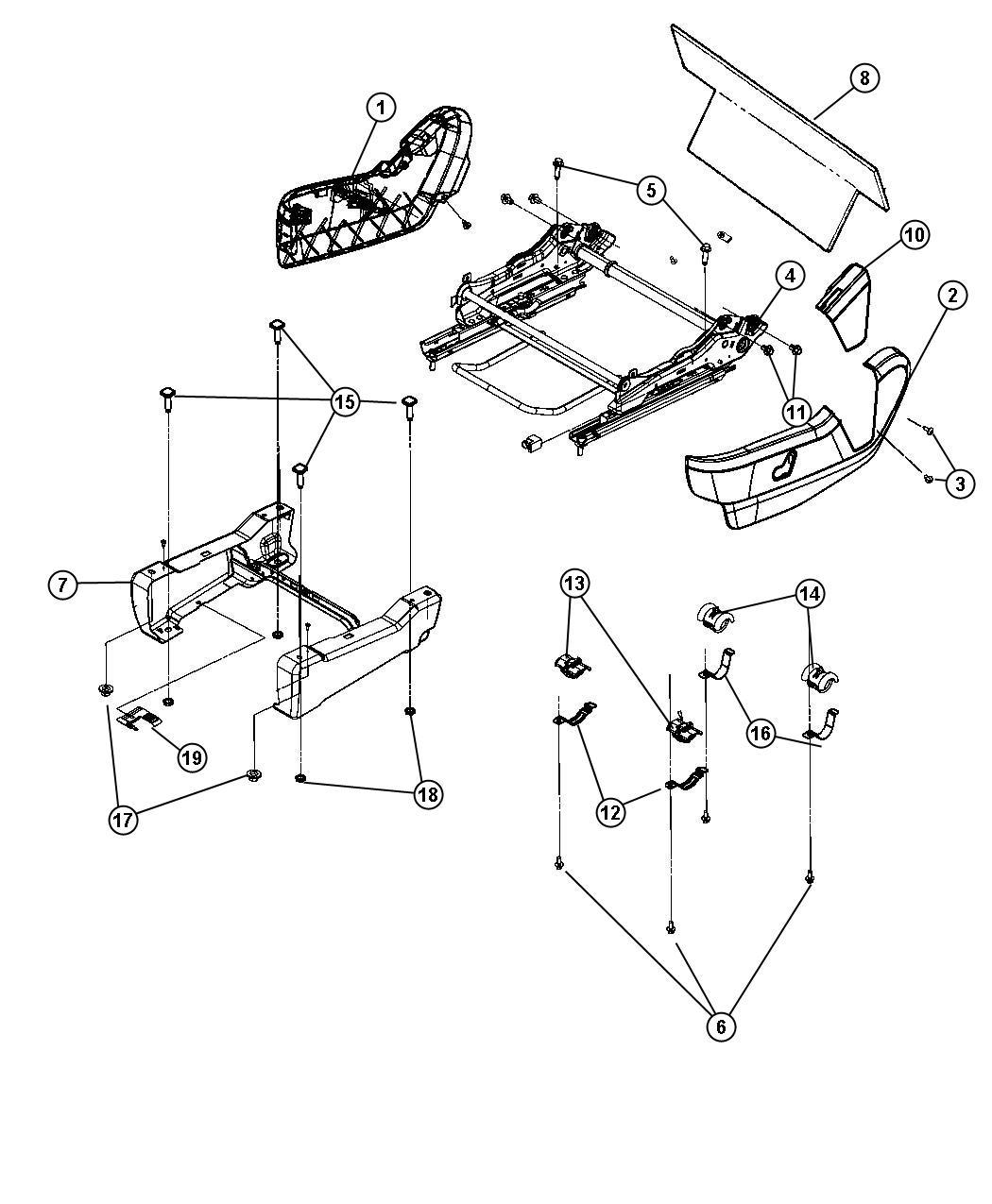 Dodge Grand Caravan Shield. Driver outboard. Trim: [cloth