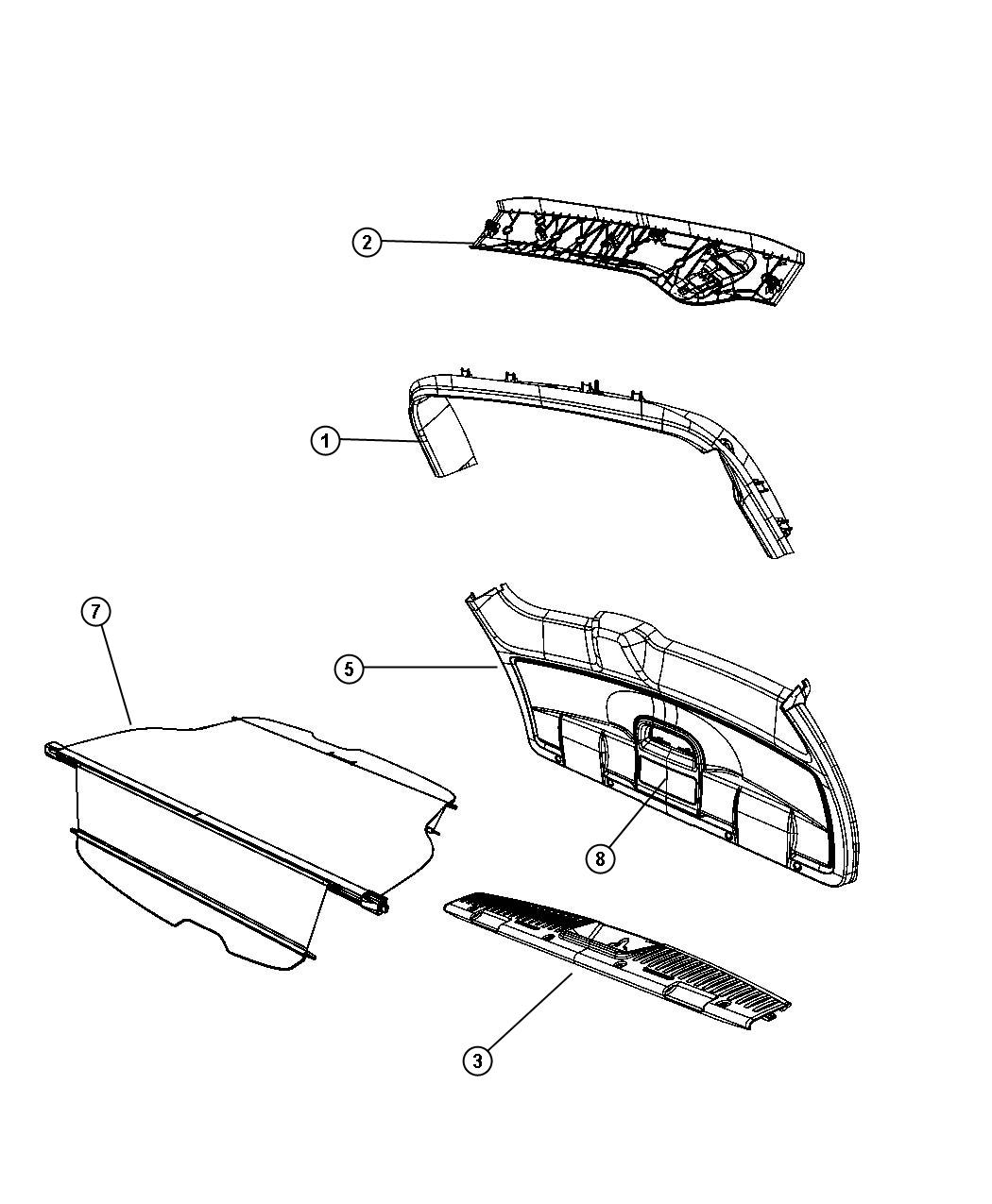 Chrysler Town Amp Country Clip Trim Panel Child Seat
