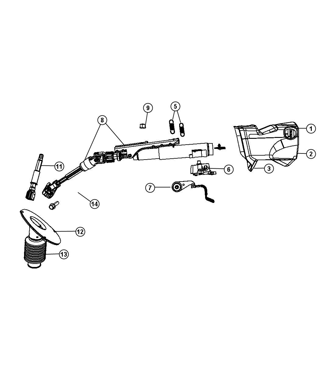 Dodge Grand Caravan Bracket Steering Column