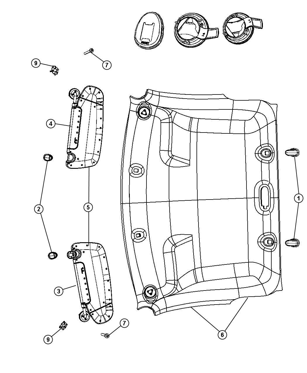 Dodge Ram Grille Speaker Export Trim All
