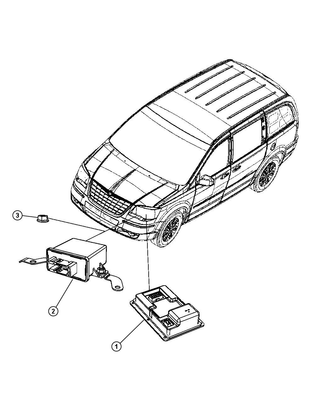 2010 Chrysler Town & Country Module. Hid ballast