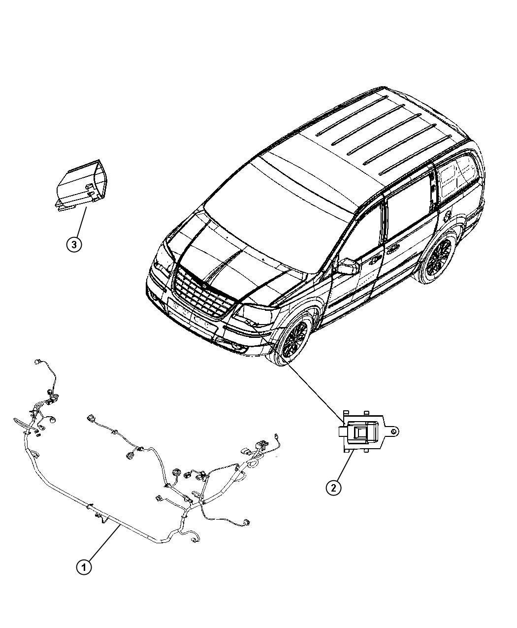 2010 Chrysler Town & Country Wiring. Headlamp. [[h.i.d. E