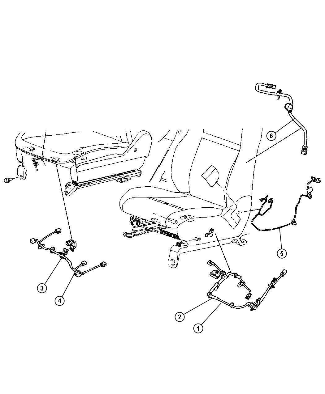 Chrysler Town & Country Wiring. Seat. 8 way power, lumbar