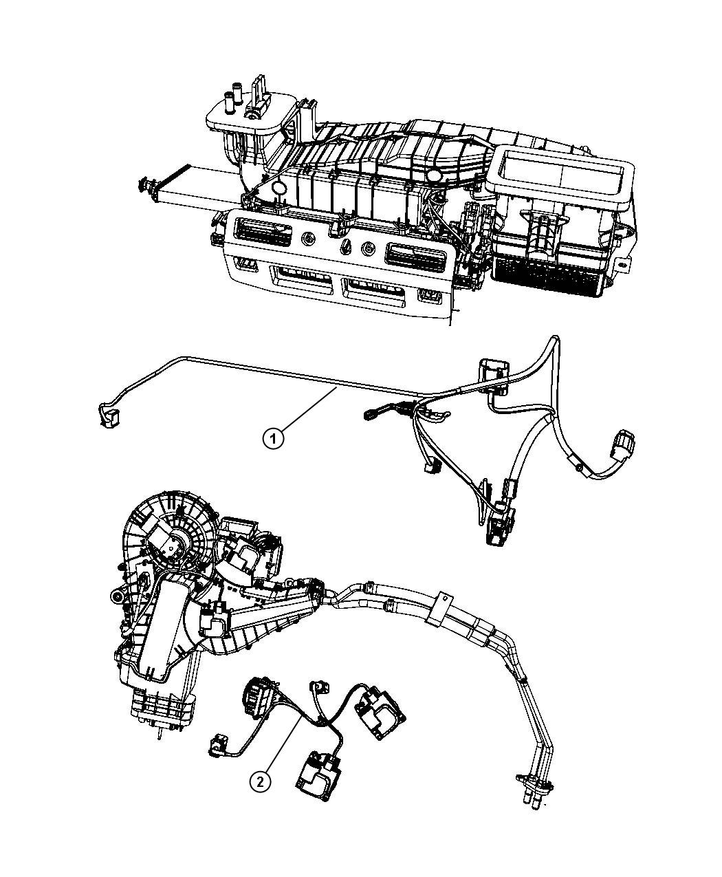 Dodge Grand Caravan Wiring. Used for: a/c and heater. Rear