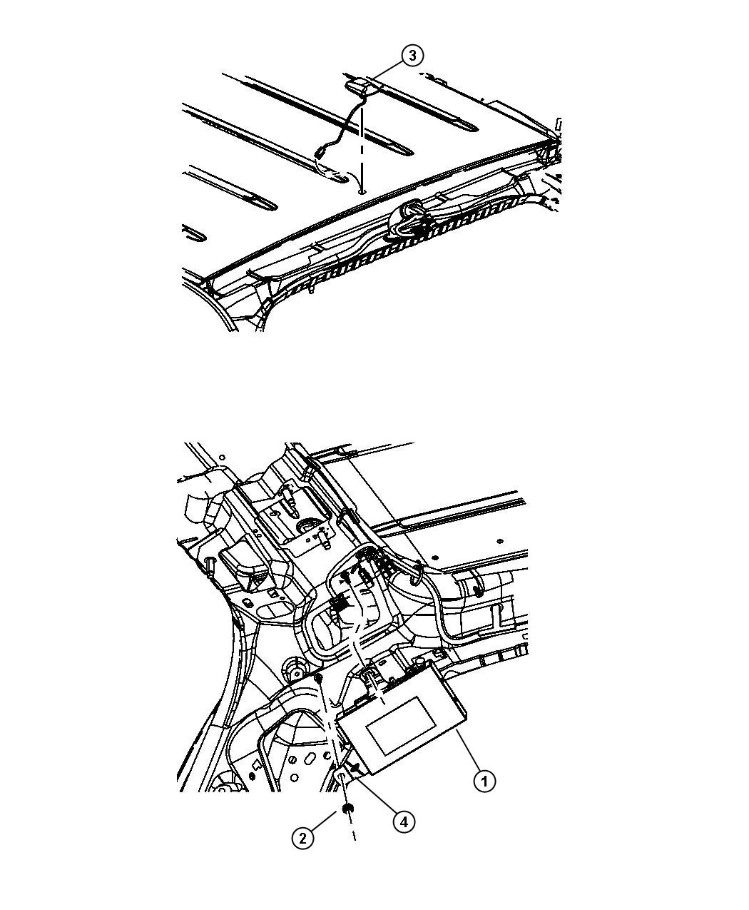 Chrysler Town & Country Bracket. Satellite receiver