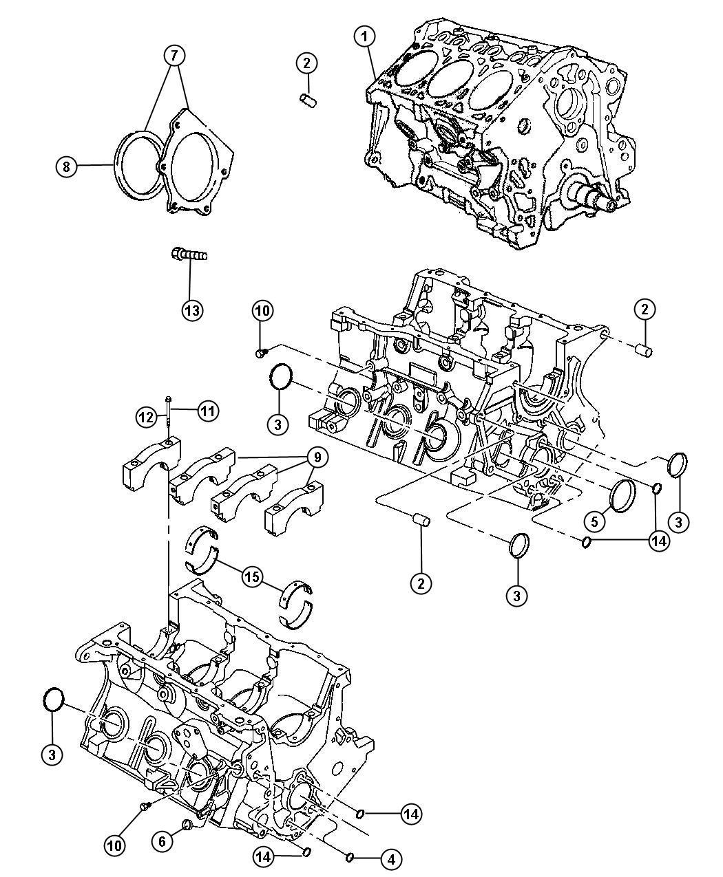 Dodge Grand Caravan Engine. Short block. New part for core