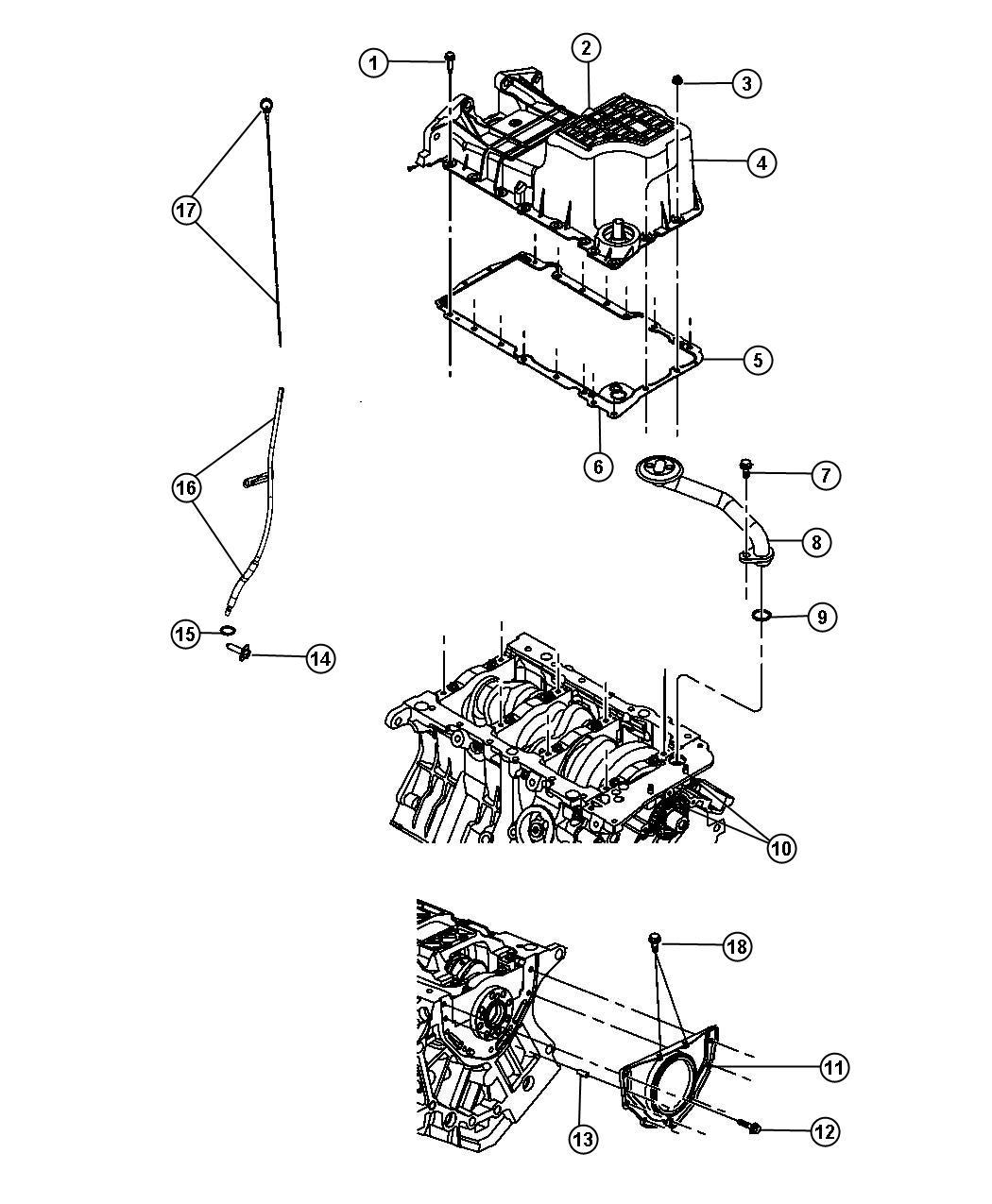 Dodge Grand Caravan Indicator Engine Oil Level Pan Egq
