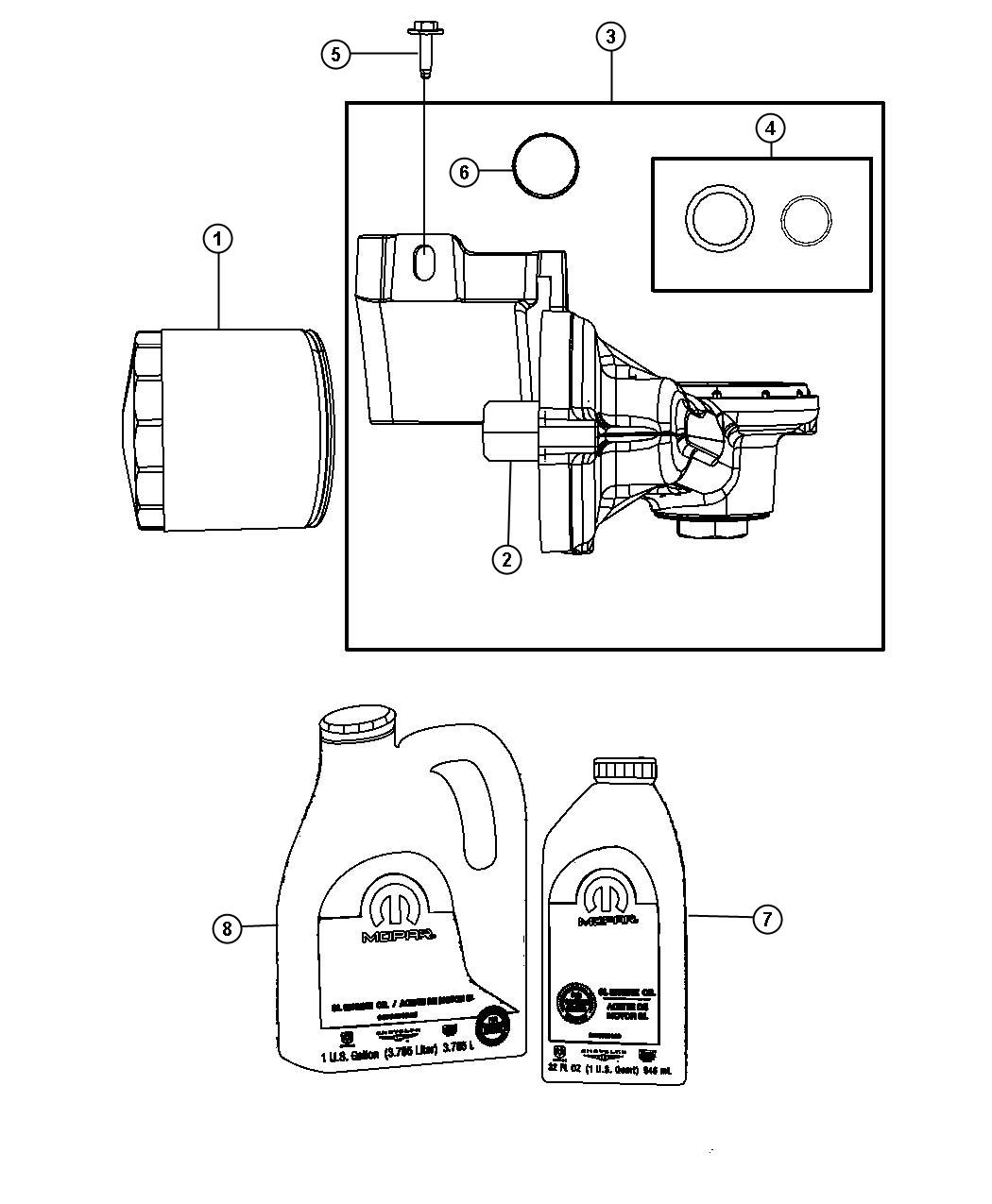 Dodge Grand Caravan Gasket Oil Filter Adapter