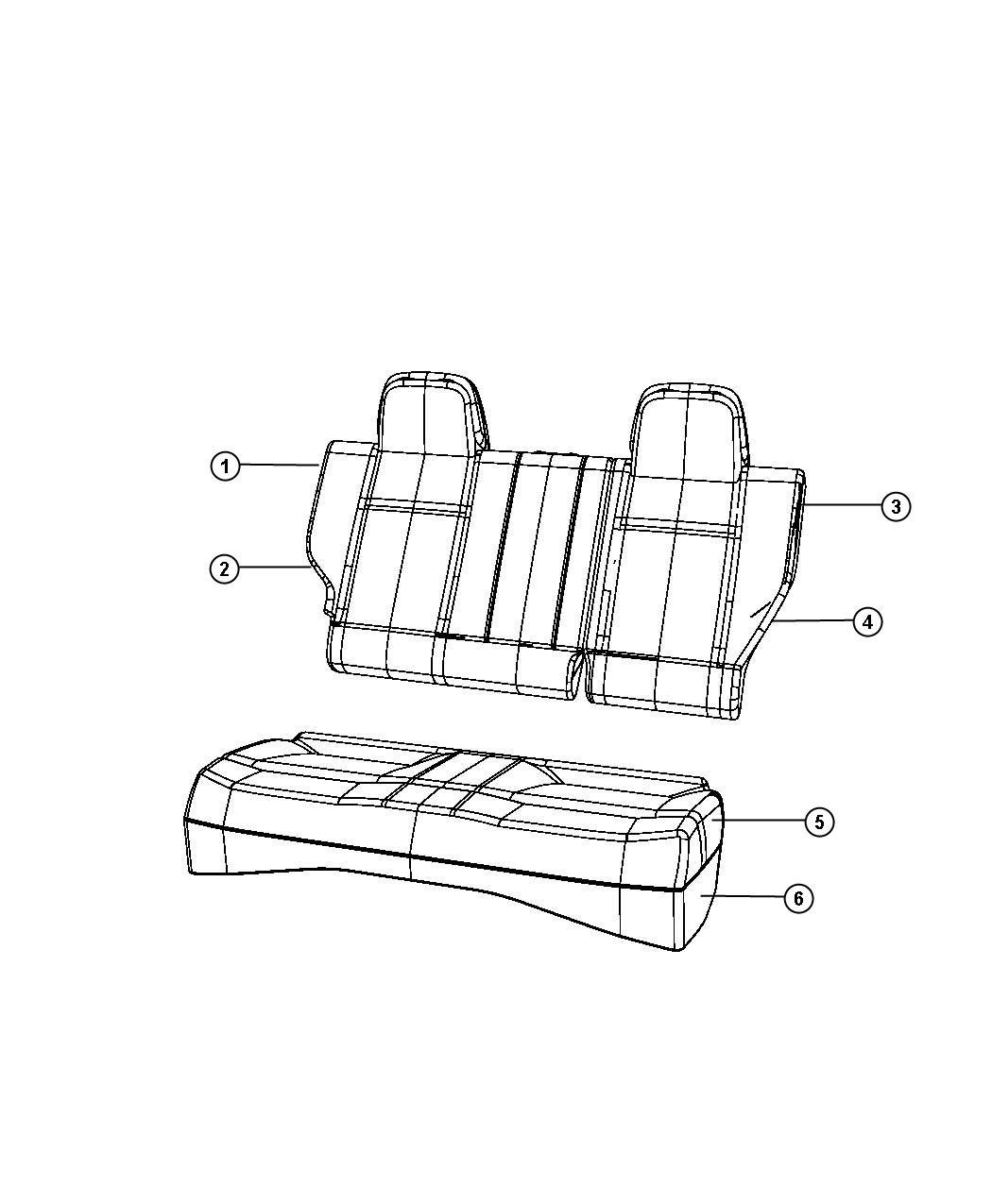 2008 Jeep Patriot Headrest. Rear. Outer. [ka], [ka