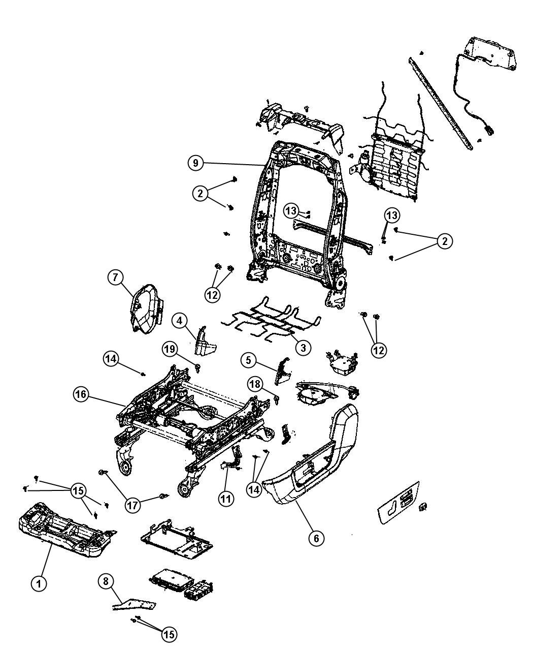 Dodge Ram 1500 Adjuster. Manual seat. Trim: [cloth 40/20
